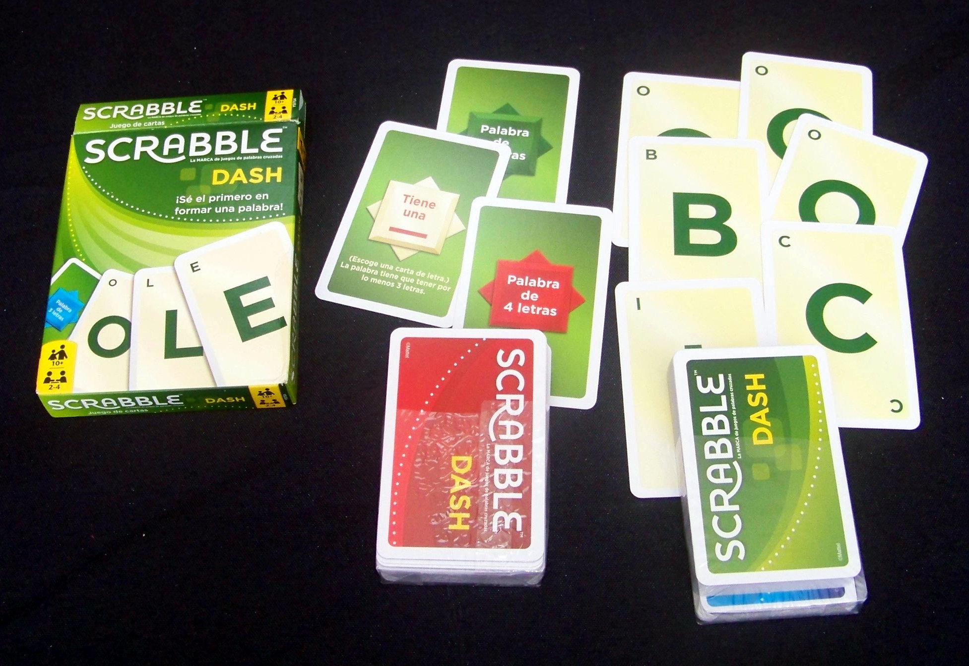 Componentes del Scrabble Dash